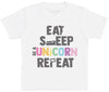 Eat Sleep Unicorn Repeat - Kids T-Shirt