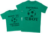 Born To Play Football With Daddy Matching Father Kids Gift Set - Mens T Shirt & Kid's T Shirt