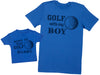 Born To Play Golf With Daddy Matching Father Baby Gift Set - Mens T Shirt & Baby T-Shirt