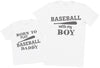 Born To Play Baseball With Daddy Matching Father Kids Gift Set - Mens T Shirt & Kid's T Shirt