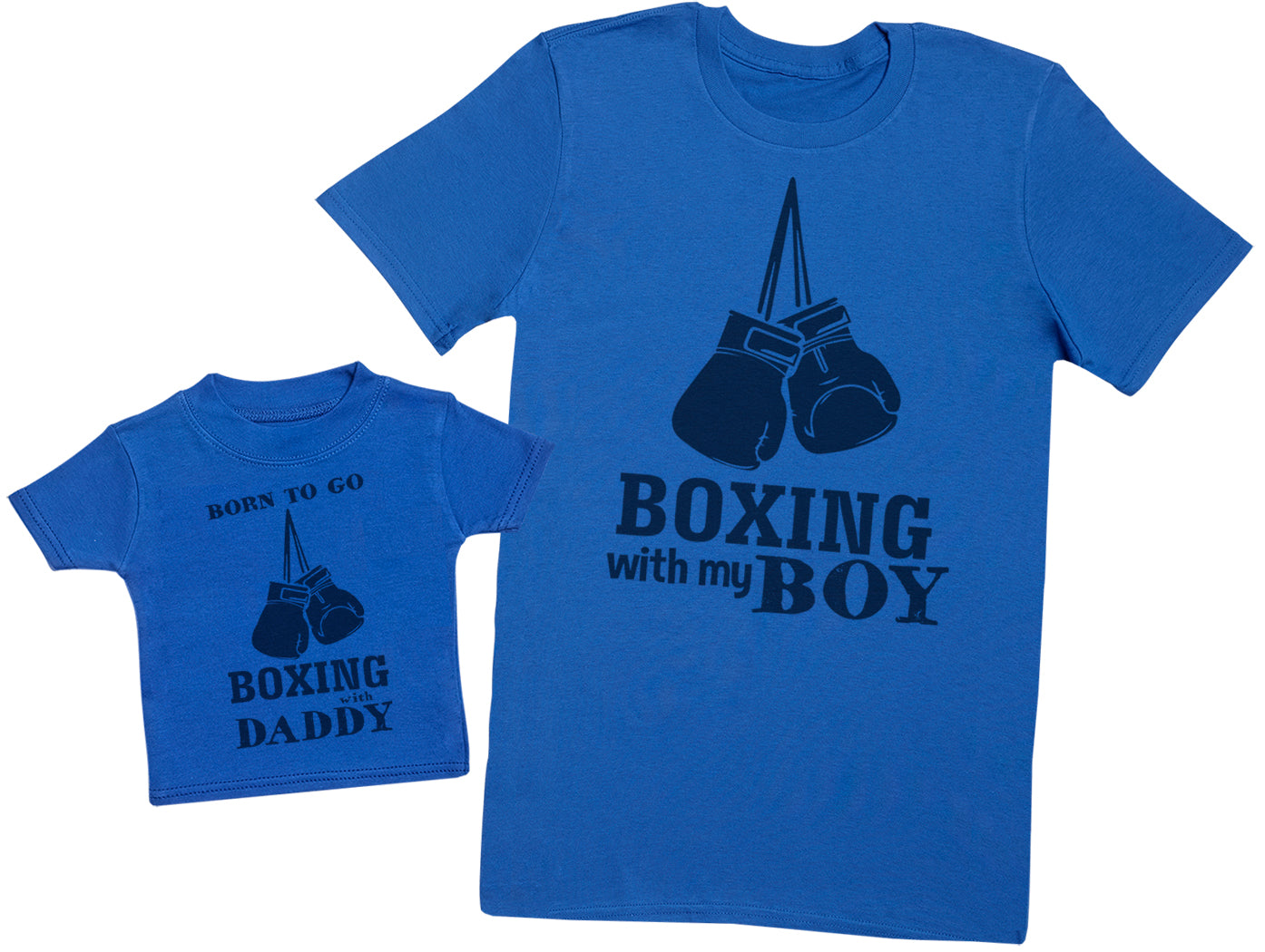 Born To Go Boxing With Daddy Matching Father Baby Gift Set - Mens T Shirt & Baby T-Shirt