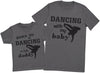Born To Go Dancing With Daddy Matching Father Kids Gift Set - Mens T Shirt & Kid's T Shirt