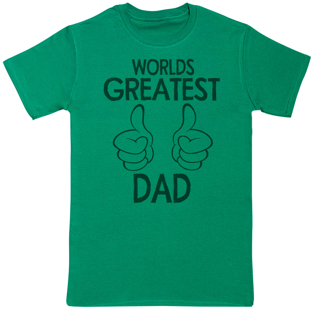 World's Greatest Dad Thumbs Up - Dads T-Shirt