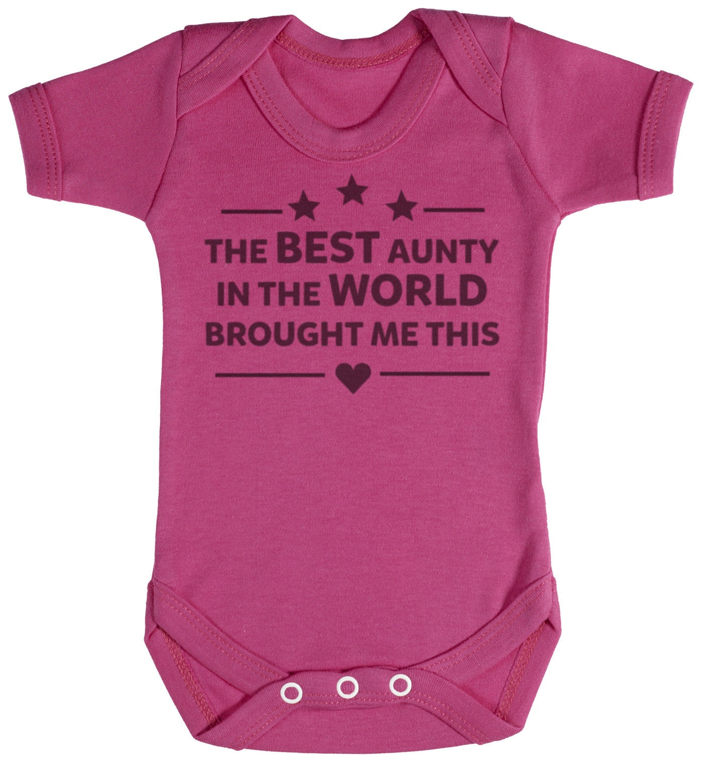 The Best Aunty In The World Baby Bodysuit / Babygrow