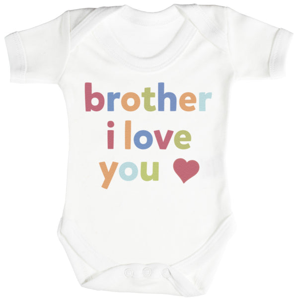 Brother, I Love You Baby Bodysuit / Babygrow