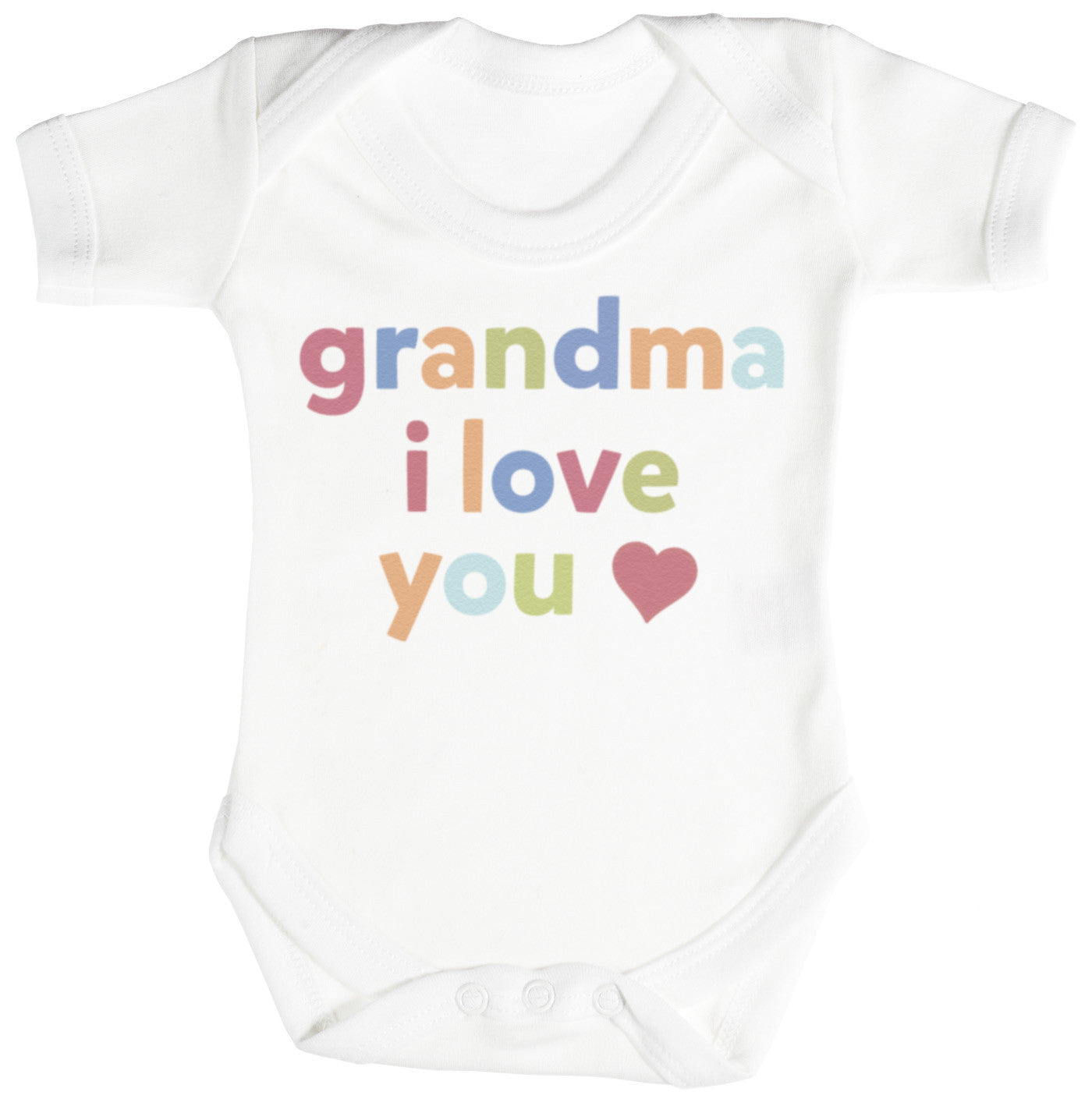 Grandma I Love You Baby Bodysuit Babygrow