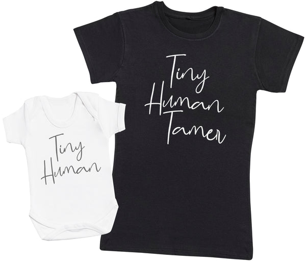 Tiny Human & Tamer - Baby Bodysuit & Mother's T-Shirt