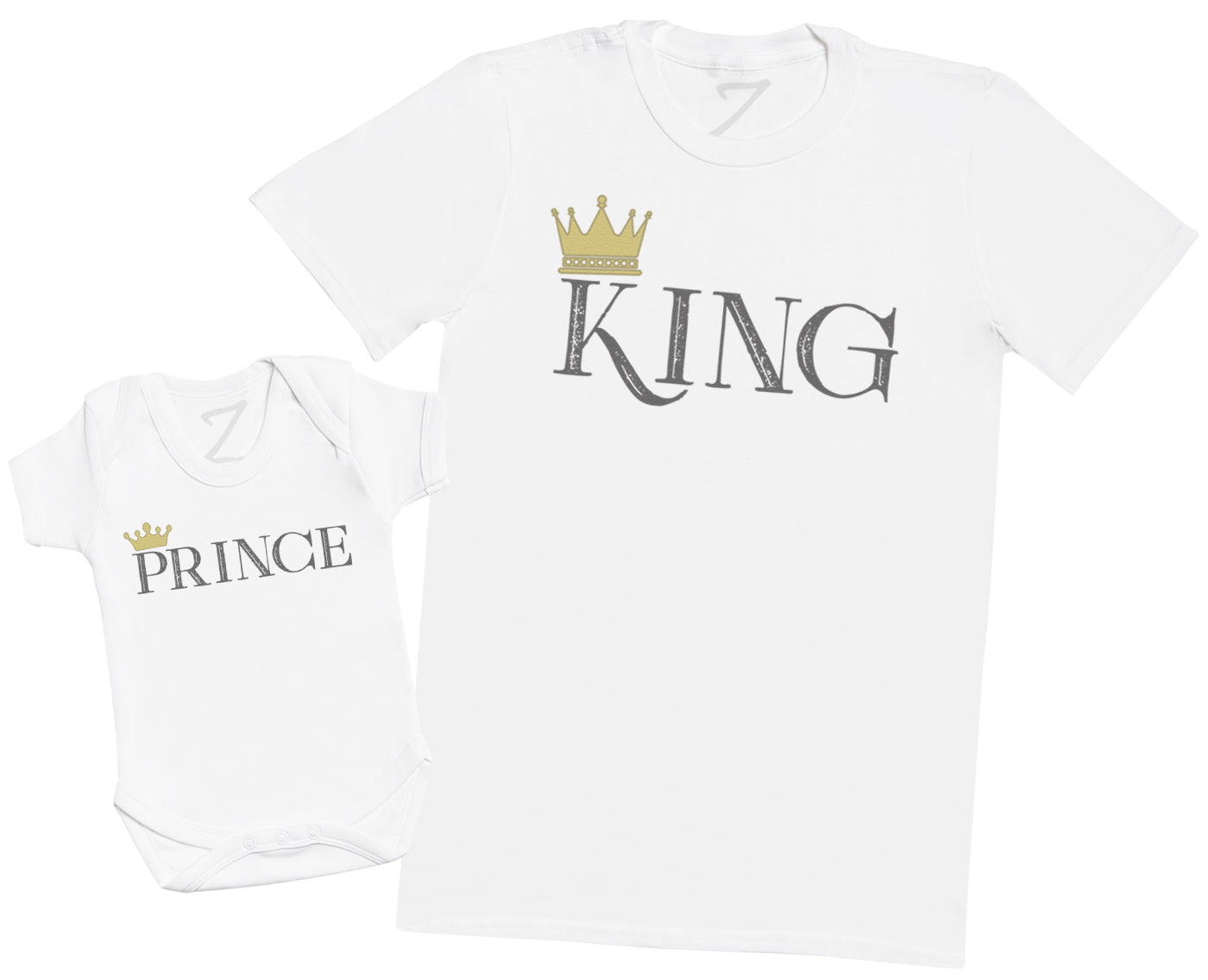 King & Prince - Mens T Shirt & Baby Bodysuit