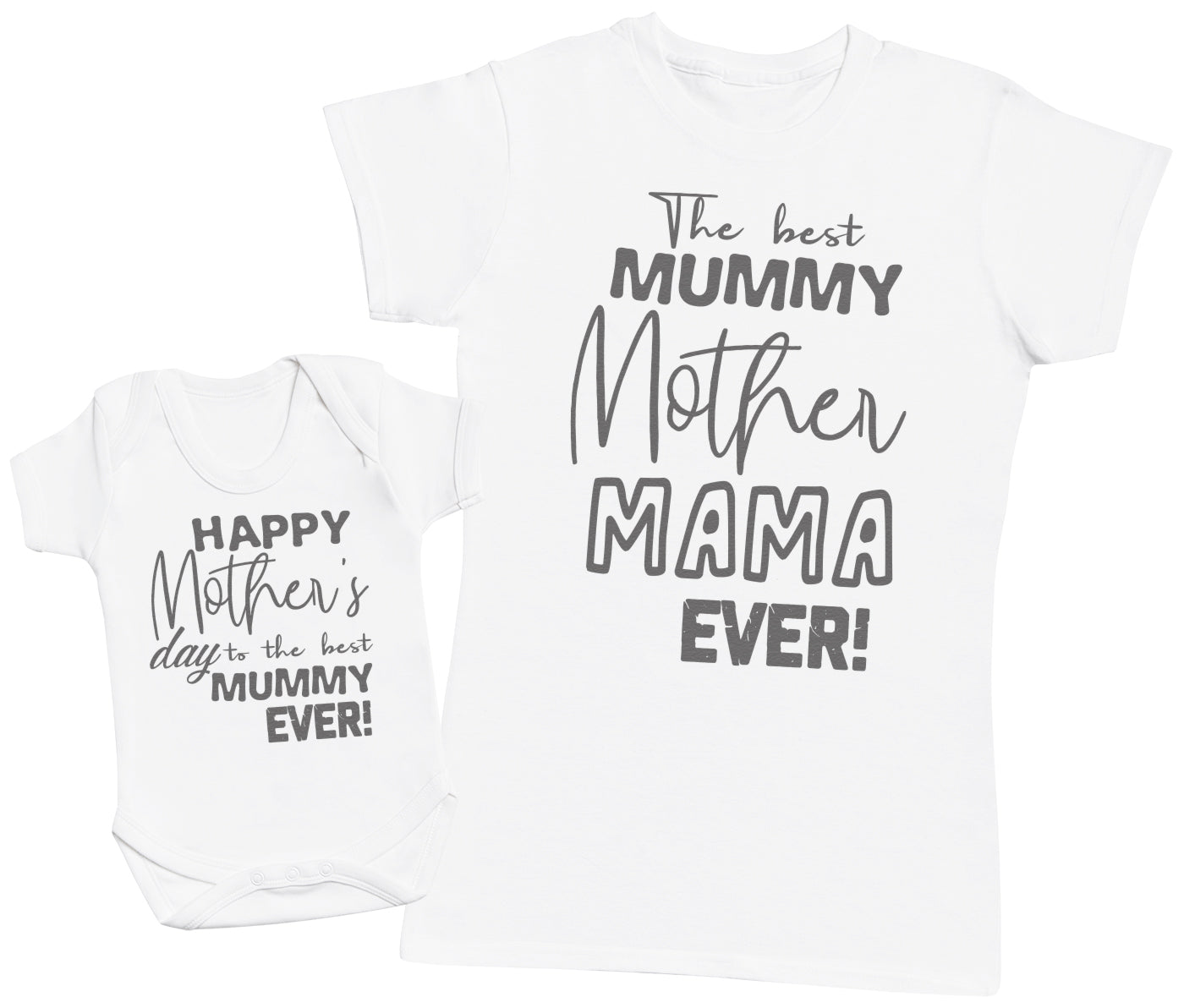 Happy Mother's Day - Baby Bodysuit & Mother's T-Shirt