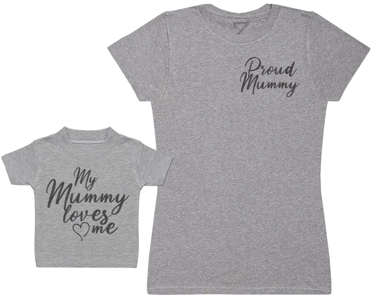 My Mummy Loves Me - Kid's Gift Set with Kid's T-Shirt & Mother's T-Shirt