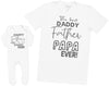 Happy Father's Day - Mens T Shirt & Baby Romper