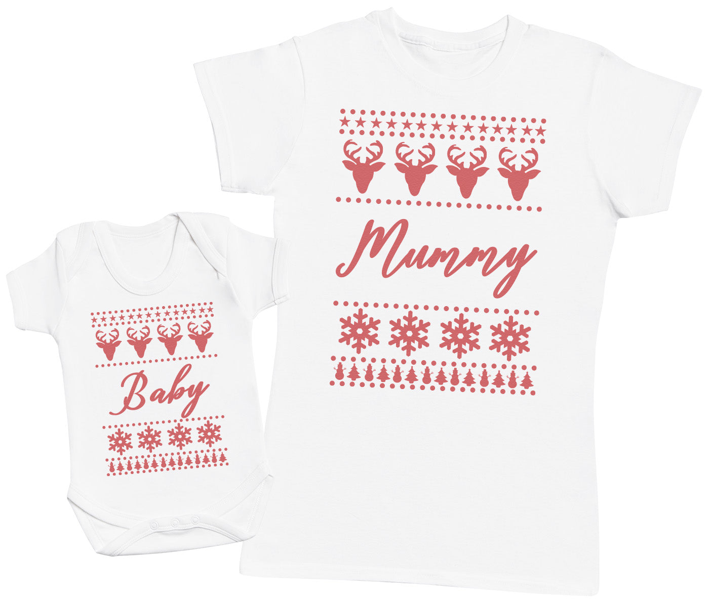 Christmas Sweater Baby Design - Baby Bodysuit & Mother's T-Shirt