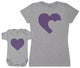 Purple Heart - Baby T-Shirt & Mother's T-Shirt