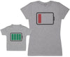 Full And Low Battery - Baby T-Shirt & Mother's T-Shirt