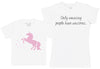 Only Amazing People Have Unicorns Matching Mother Kid's Gift Set - Womens T Shirt & Children's T-Shirt