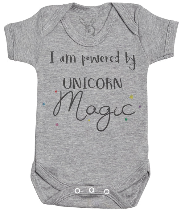 I Am Powered By Unicorn Magic Baby Bodysuit
