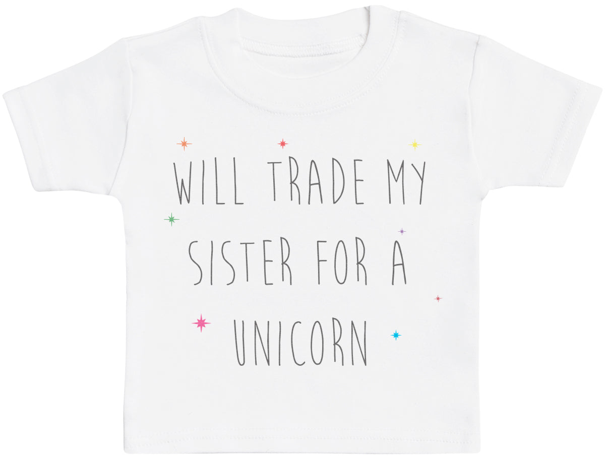 Will Trade My Brother For A Unicorn Baby T Shirt
