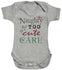 Naughty But Too Cute Too Care Baby Bodysuit / Babygrow