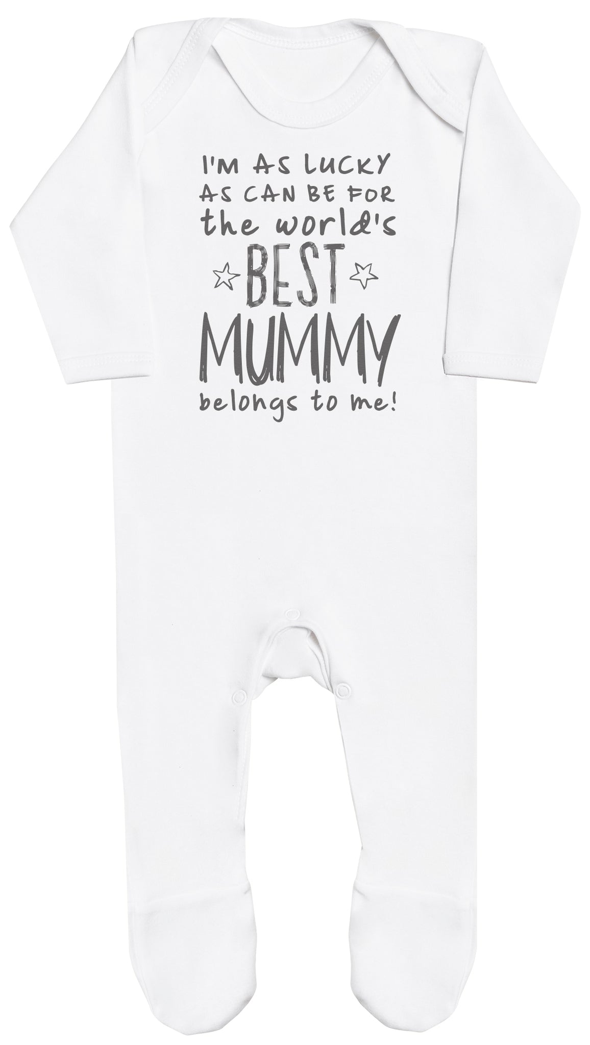I'm As Lucky As Can Be Best Mummy belongs to me! Baby Romper