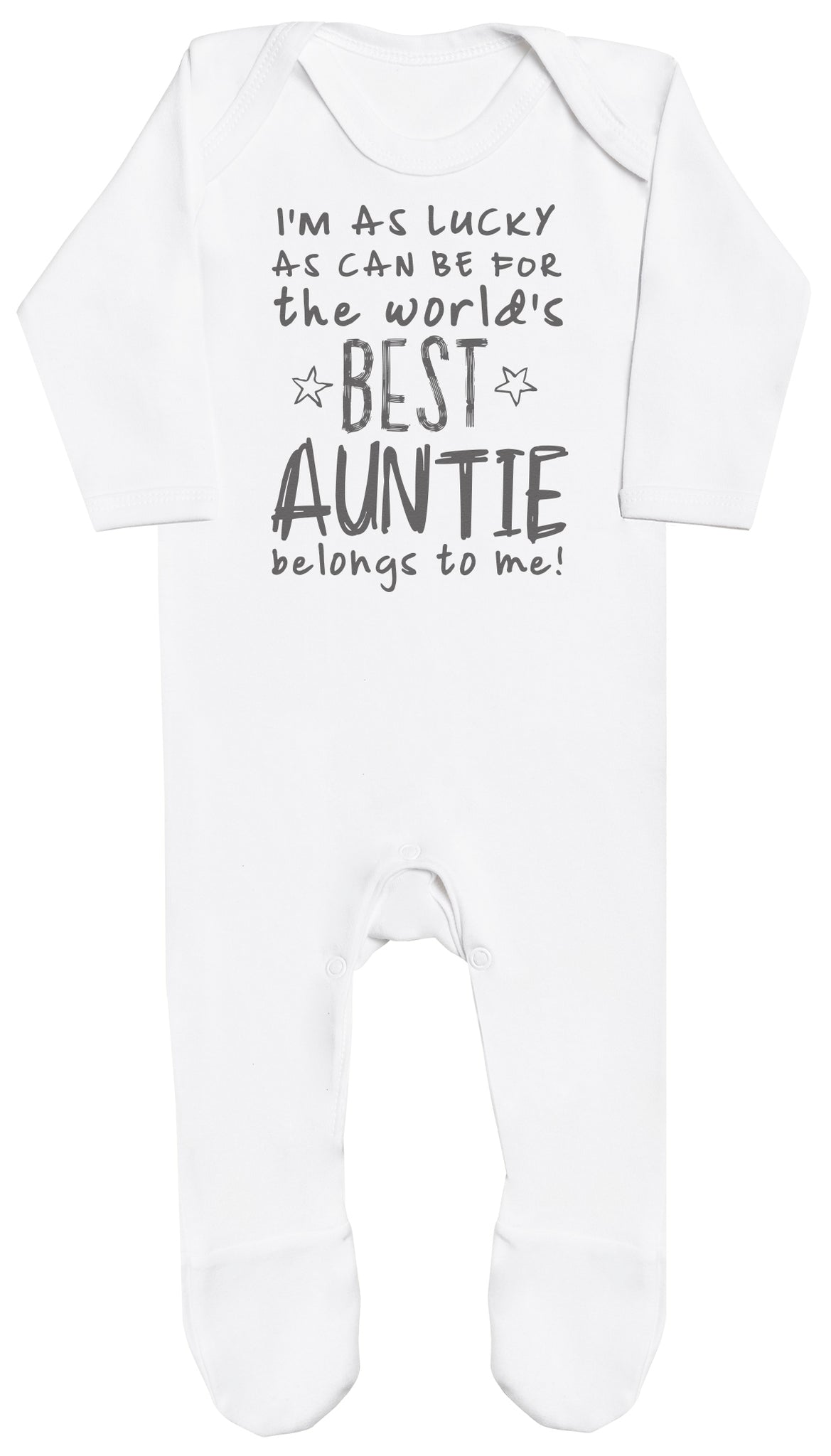 I'm As Lucky As Can Be Best Auntie belongs to me! Baby Romper