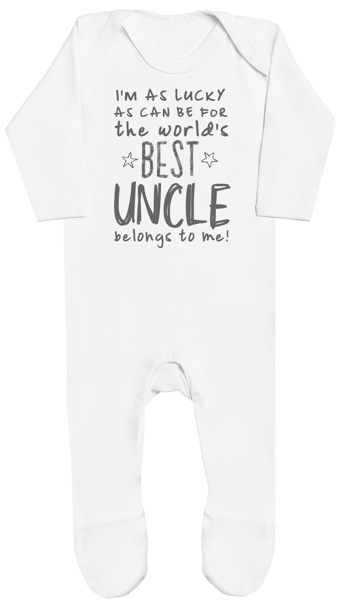 I'm As Lucky As Can Be Best Uncle belongs to me! Baby Romper