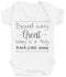 Behind Every Great Baby Is A Truly Amazing Mum Baby Bodysuit