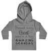 Behind Every Great Baby Is A Truly Amazing Grandad Baby Hoody