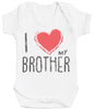 I Love My Brother Red Heart Baby Bodysuit