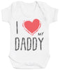 I Love My Daddy Red Heart Baby Bodysuit