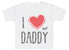 I Love My Daddy Red Heart Baby T-Shirt