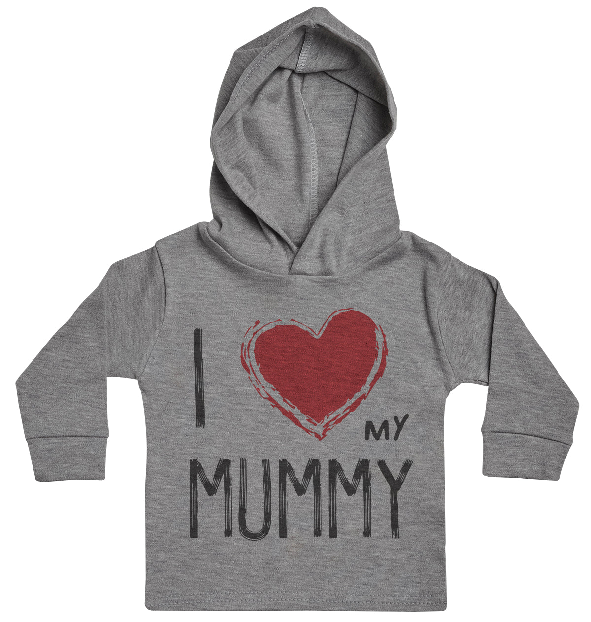I Love My Mummy Red Heart Baby Hoody