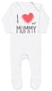 I Love My Mummy Red Heart Baby Romper