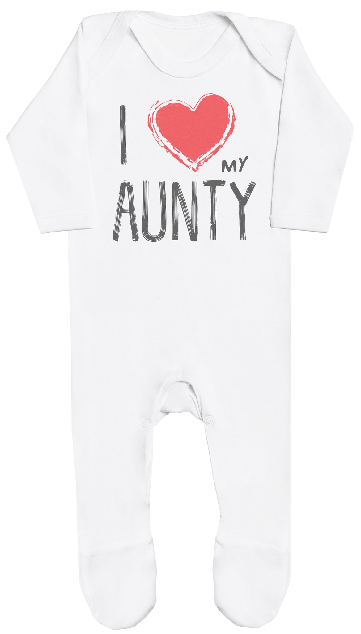 I Love My Aunty Red Heart Baby Romper