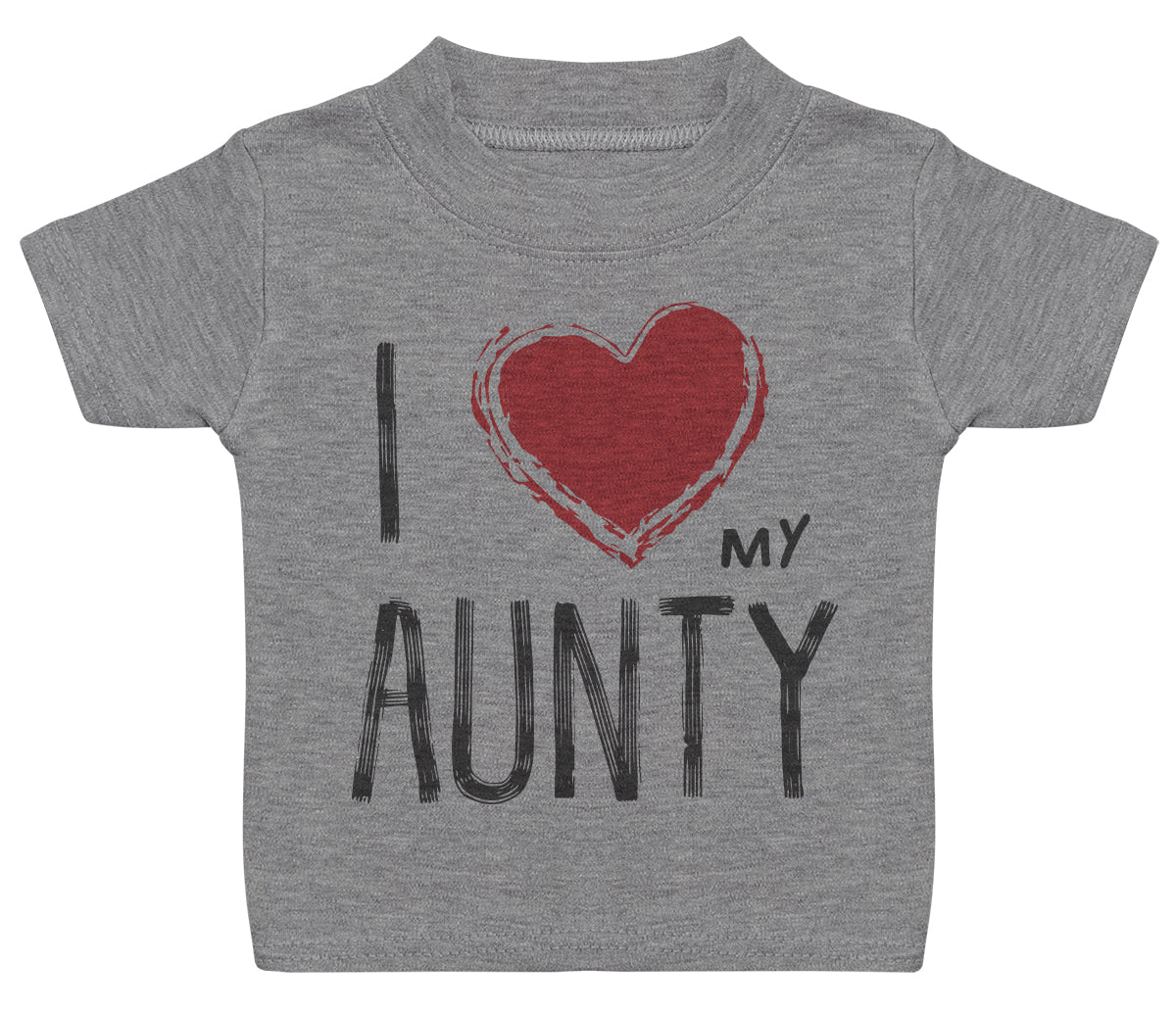 I Love My Aunty Red Heart Baby T - Shirt