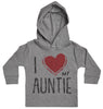 I Love My Auntie Red Heart Baby Hoody