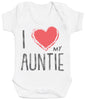 I Love My Auntie Red Heart Baby Bodysuit