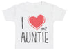 I Love My Auntie Red Heart Baby T - Shirt