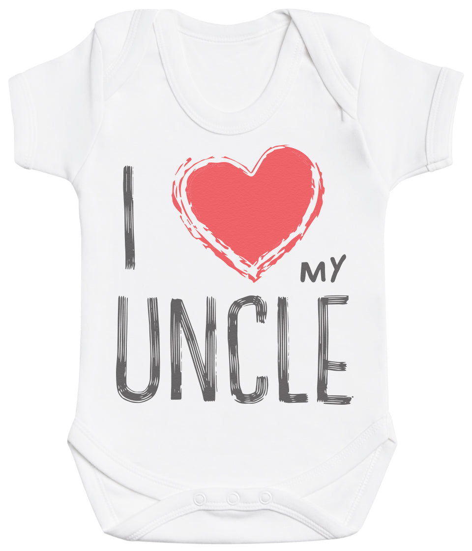 I Love My Uncle Red Heart Baby Bodysuit