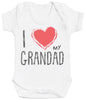 I Love My Grandad Red Heart Baby Bodysuit