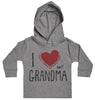 I Love My Grandma Red Heart Baby Hoody