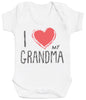 I Love My Grandma Red Heart Baby Bodysuit