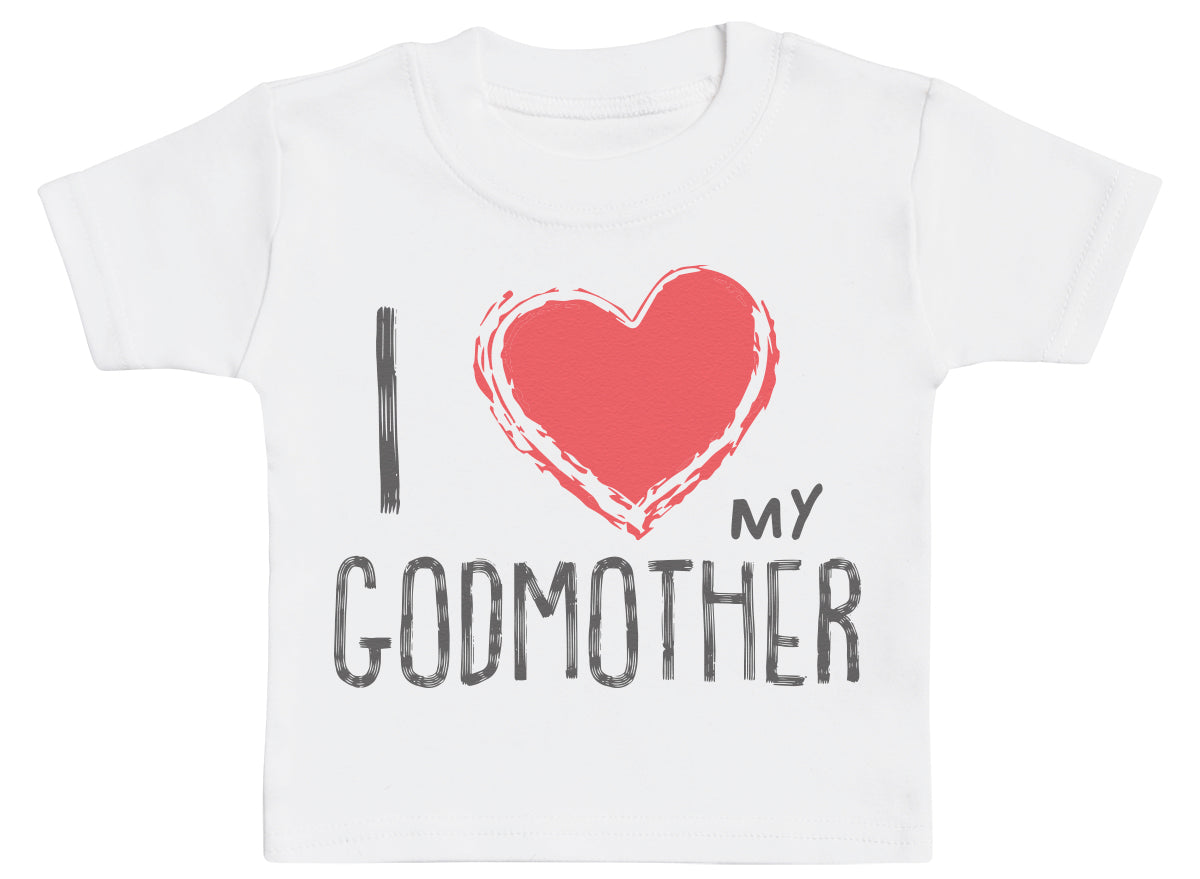 I Love My GodMother Red Heart Baby T-Shirt