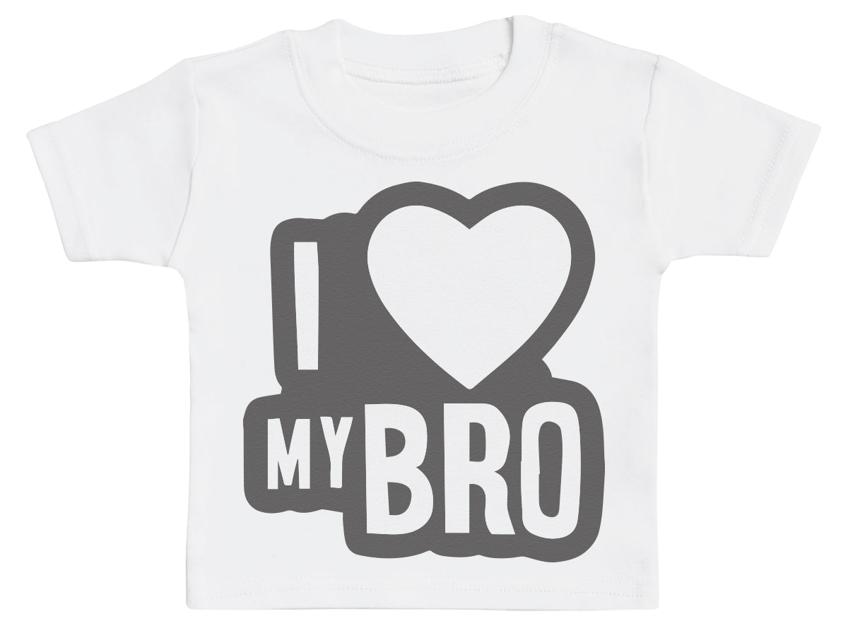 I Love My Bro Black Outline Baby T-Shirt