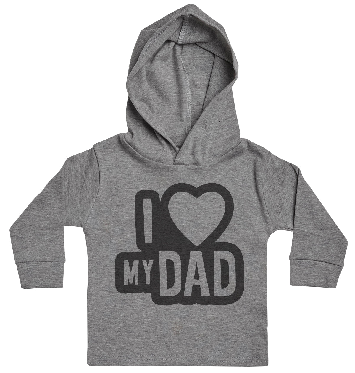 I Love My Dad Black Outline Baby Hoody