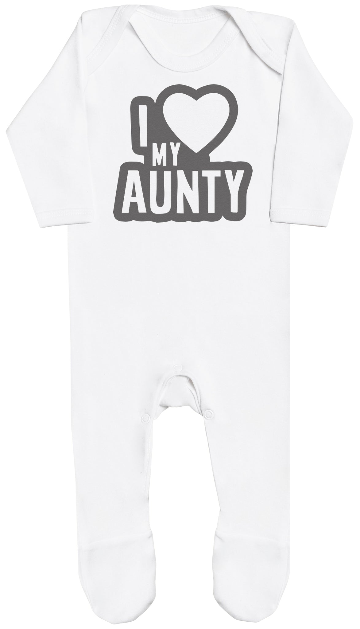 I Love My Aunty Black Outline Baby Romper