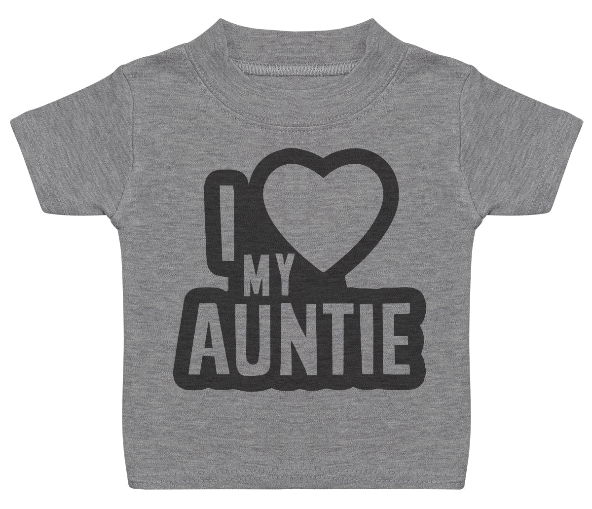I Love My Auntie Black Outline Baby T - Shirt