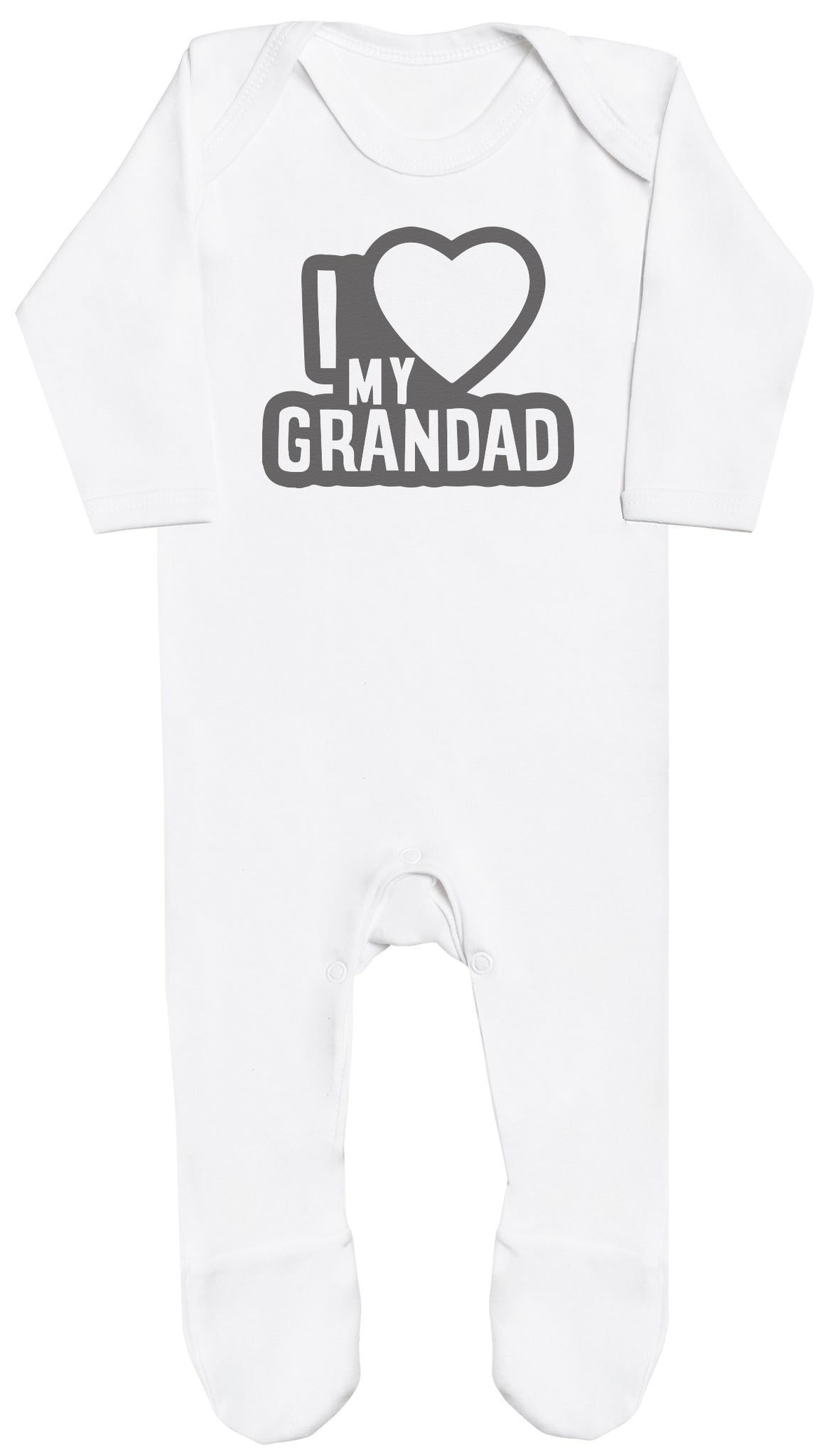 I Love My Grandad Black Outline Baby Romper