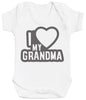 I Love My Grandma Black Outline Baby Bodysuit
