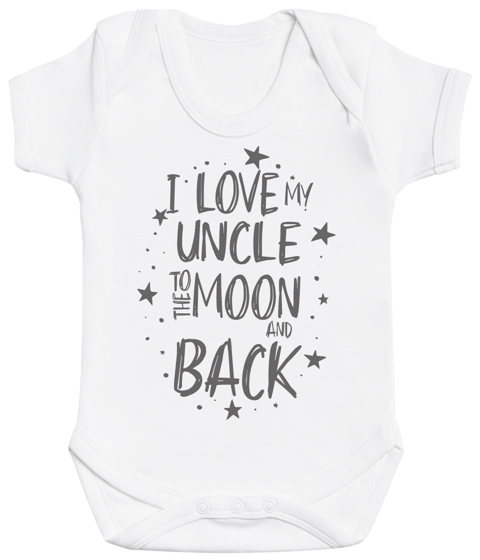 I Love My Uncle To The Moon And Back Baby Bodysuit