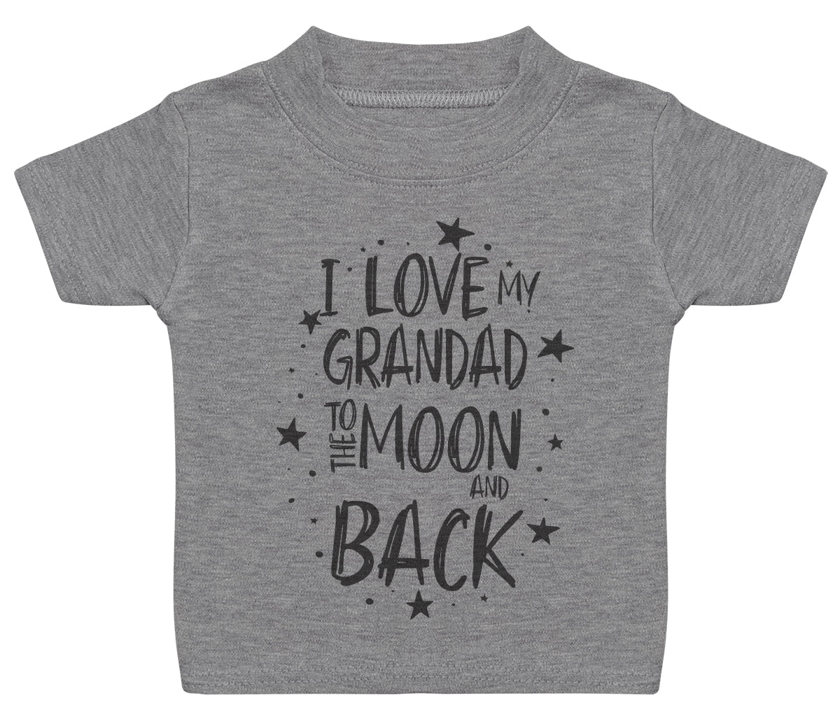 I Love My Grandad To The Moon And Back Baby T-Shirt